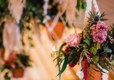 A tipi wedding flower arrangement (Scarborough, UK)